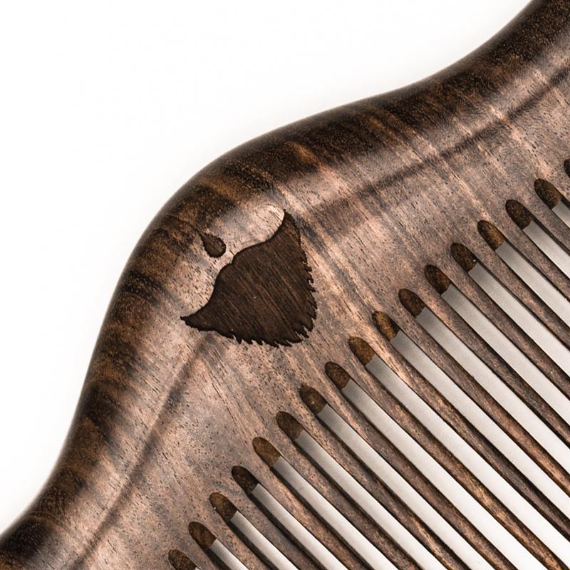 Дървен гребен за брада и коса beard comb